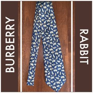 Burberry Accessories - BURBERRY Rabbit Pattern Mens Silk Tie